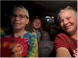 Rhea, Savannah and Terri hitting the road to Grave