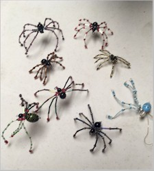 Spiders made in Bunny Bolton