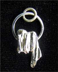 Gloria Adams - Sterling Silver Pinestraw Cast Pendant
