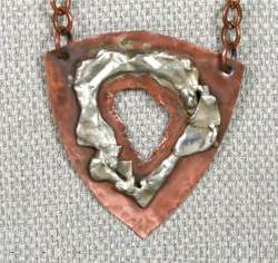 Gloria Adams - Copper Pendant with Sterling Silver